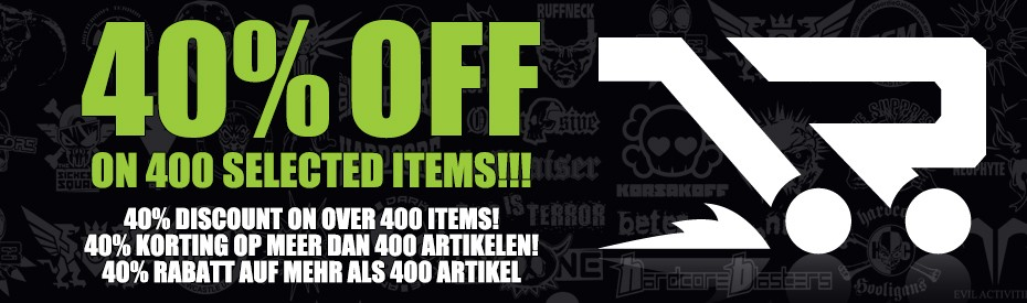40% discount 400 items