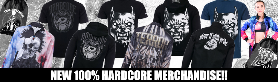 New 100% Hardcore Merch