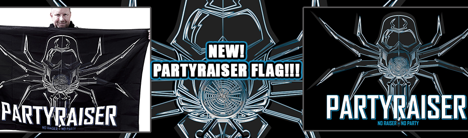 Partyraiser black/blue flag