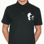 Black DNA polo stitched