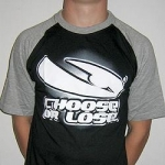 Black/grey Choose or Lose shortsleeve