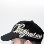 Partyraiser cap yellow/gold logo - black