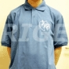 Blue Neophyte polo, logo stitched on the front