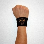 Black RTC Wristband - gold stitched