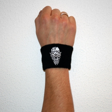 Black CSR Wristband - silver stitched