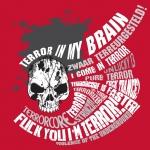 Terror in my brain sticker red big