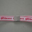 100% Hardcore Belt White pink Hardcore