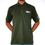 Armygreen Traxtorm Polo - Badge logo st.