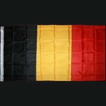 The national flag of Belgium