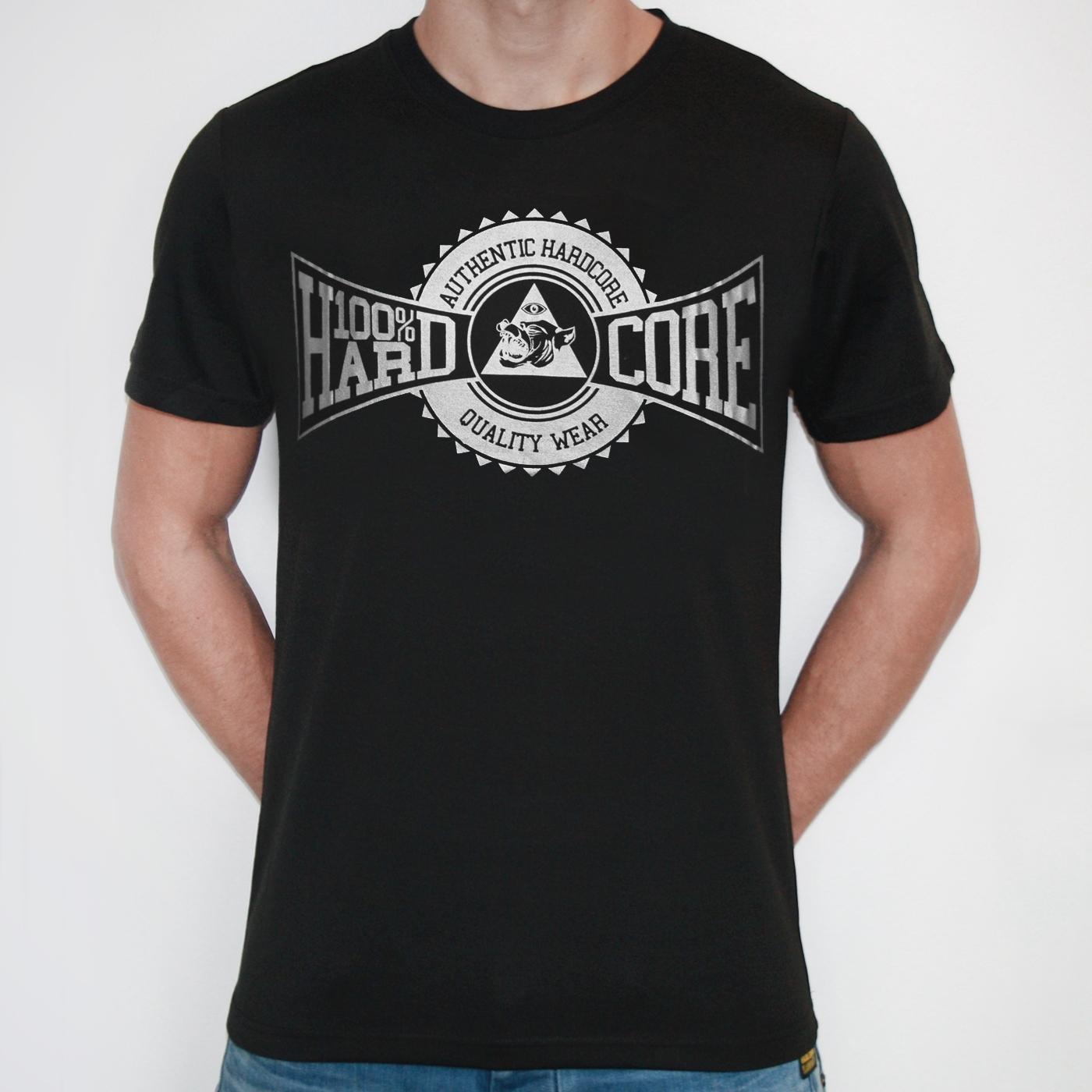 100% Hardcore authentic hardcore quality wear t-shirt ...