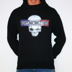 Frenchcore Blue White Red Hooded, Bl XXL