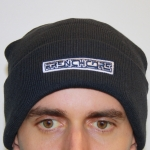 Frenchcore Navy Woolly Hat stitched logo