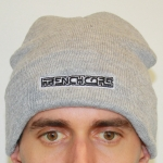Frenchcore Grey Woolly Hat stitched logo