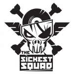 Transparant The Sickest Squad sticker big 20x20 cm