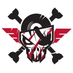 Transparant The Sickest Squad sticker small 10x10 cm white/red