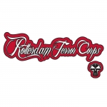 RTC sticker logo+tekst white/red Transpa
