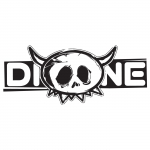 Dione sticker small Transparant