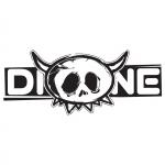 Dione sticker small Transparant