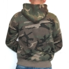 Army Hooded Zipper Woodland