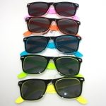 Sunglass black/collor frame rayban style