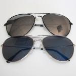 Sunglass Pilot black frame & silver