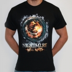 Black Nightmare Hell Awaits shortsleeve