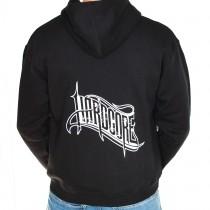 Hardcore Logo Hooded Zipper