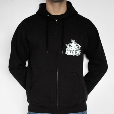 The Vizitor Too loud Hooded Zipper