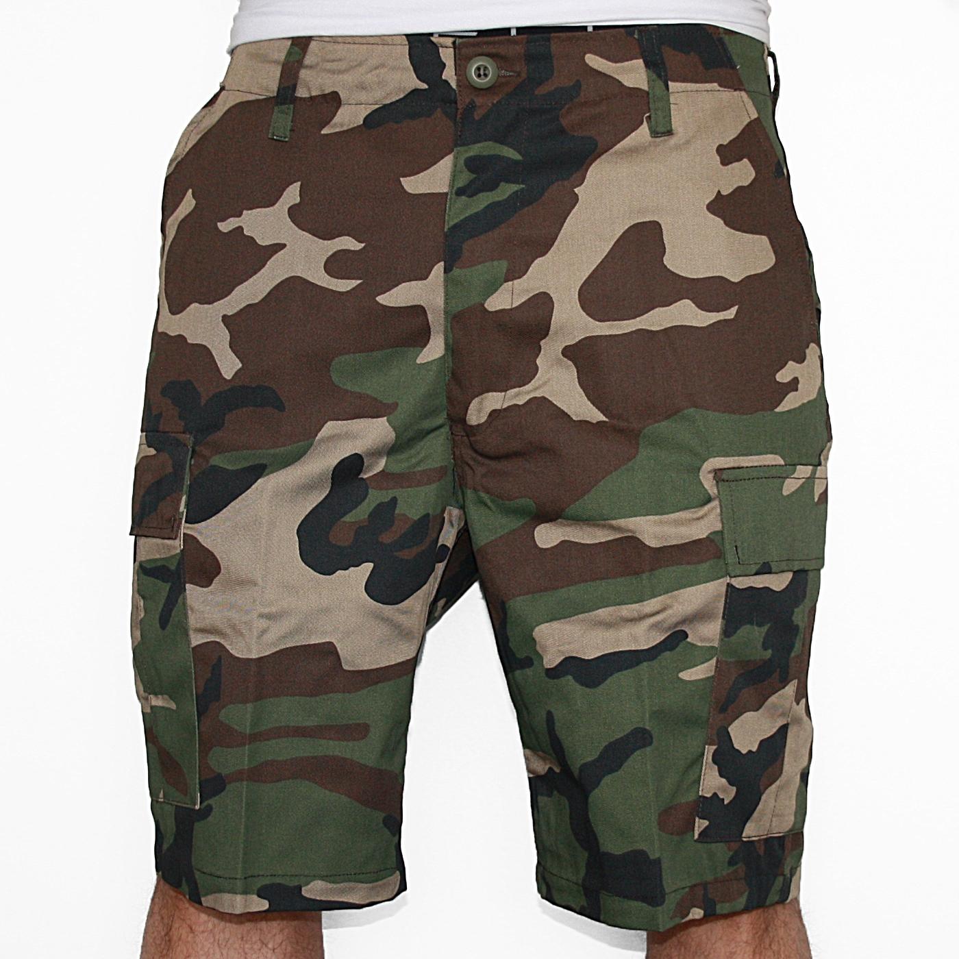 Army Shorts Woodland (ARMYSHORWO) Pants - Rigeshop 4948f808781