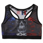 Frenchcore Ladies Bandeau triple skull