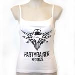 Partyraiser Records Spagetti top white