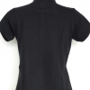 RTC lady polo black red stitched