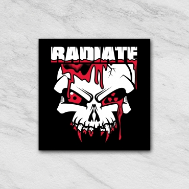 Radiate Sticker black