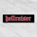 Hellraiser red tekst sticker 2015