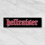 Hellraiser red tekst sticker 2015