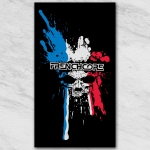 Frenchcore blood skull sticker BWR trans