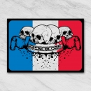 Frenchcore sticker rectangle BWR