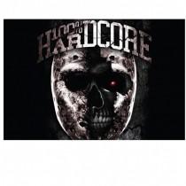 100% Hardcore Banner Metal Skull