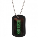 100% Hardcore Dog Tag Black/green