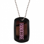 100% Hardcore Dog Tag Black/Pink