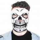 Biker Mask Full Face White Skull
