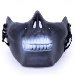 Half Face Skull Mask black