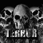 Terror Banner Melting Skulls