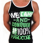 100% Hardcore Singlet Conquer Blac/green