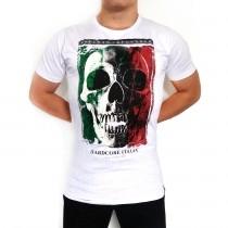Hardcore Italia SKULL white short sleeve