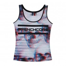Frenchcore Ladies Singlet White Skull