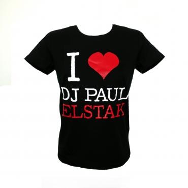 I Love Dj Paul Elstak Lady Shortsleeve
