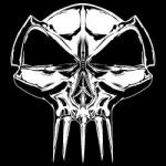 RTC carsticker 'skull' transparant/white