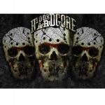 100% Hardcore Skulls Gold Banner