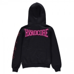 100% Hardcore basic lady hozip Black/pin